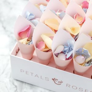 Confetti Cone Box with Pink Cones and Summer Mix available from Petals and Roses
