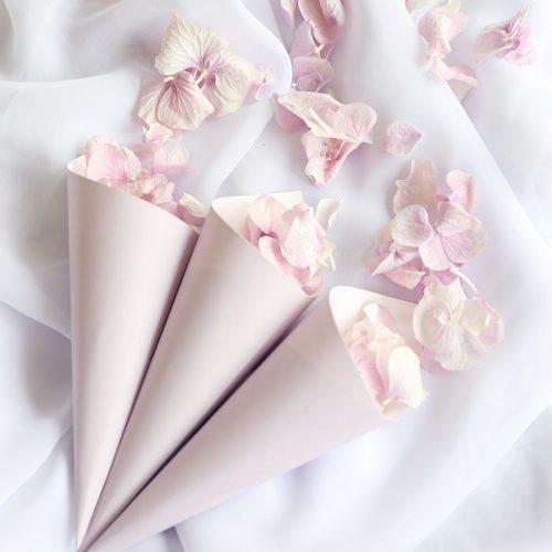 Freeze Dried Lilac Hydrangea with Lilac Confetti Cones