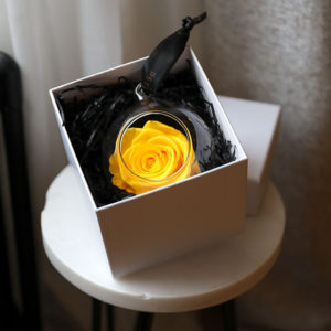 Petals & Roses Hanging Yellow Rose that lasts 12 months