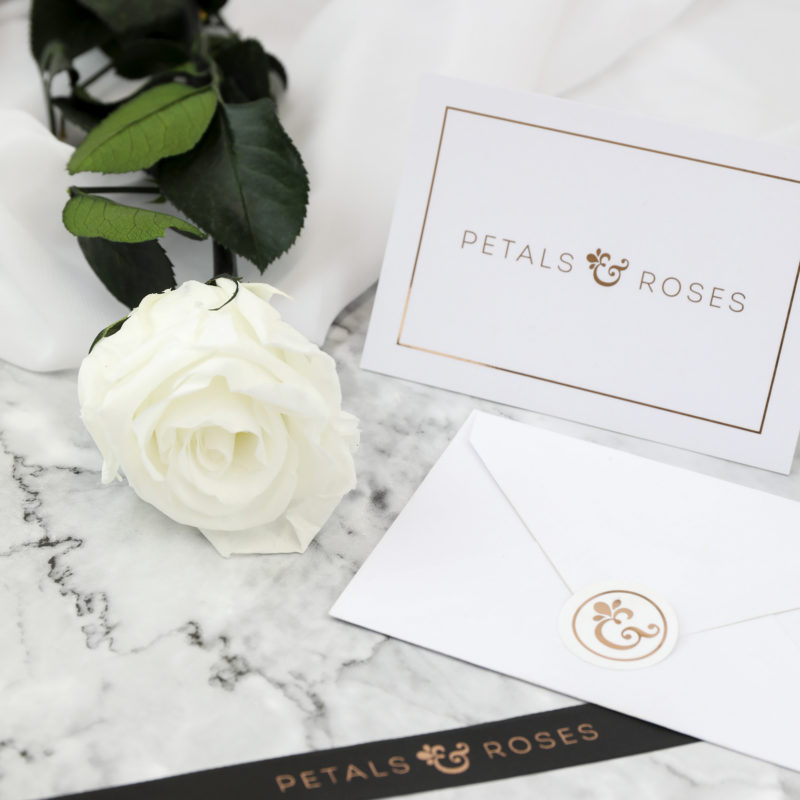 Send a personal everlasting rose gift