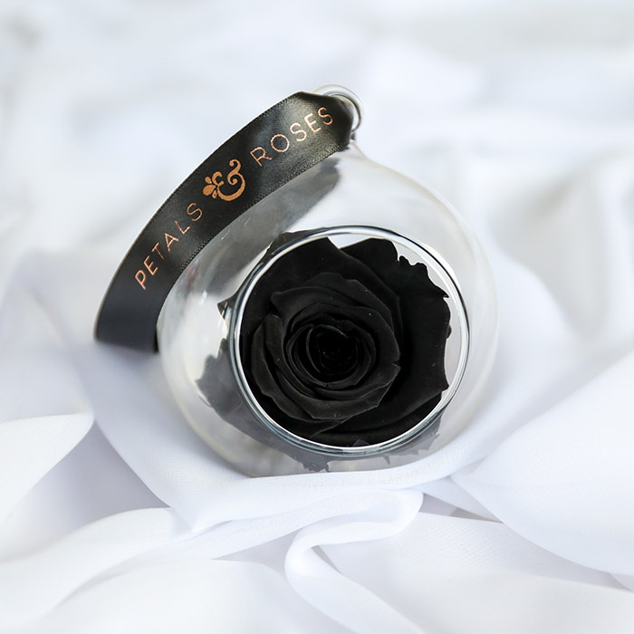 Black Timeless Rose Bauble