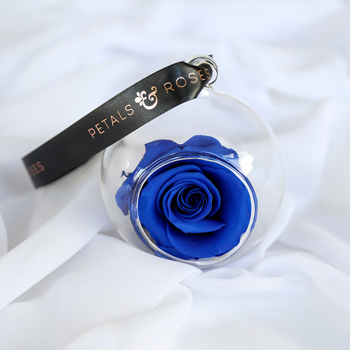 Blue Timeless Rose Bauble