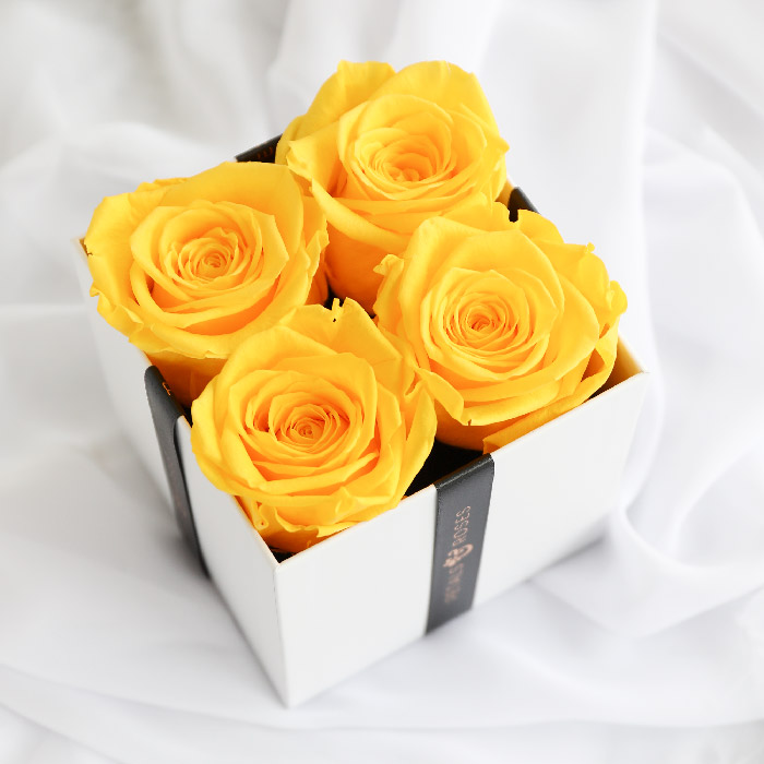 Yellow Luxe Rose Box